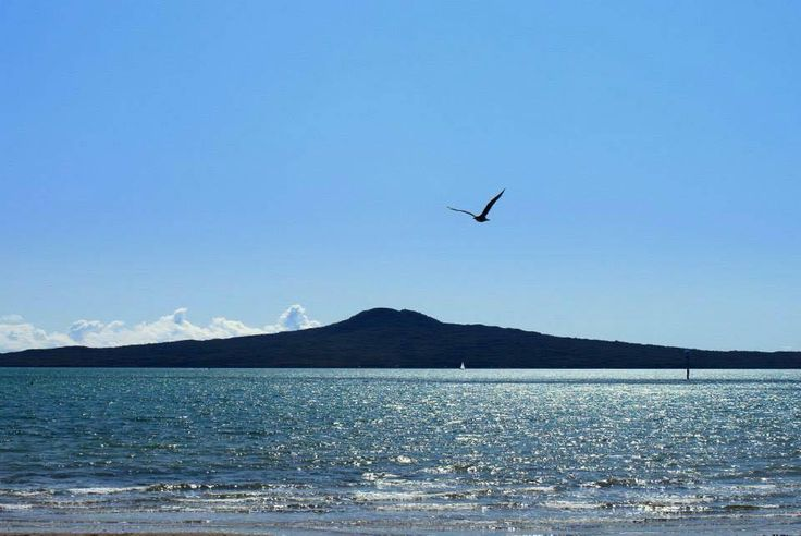 Rangitoto Island as viewed from St Heliers Beach, Auckland