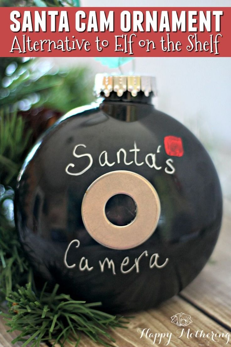 Are you sick and tired of finding new capers for your Elf on the Shelf every day? Then you need a Santa Cam - a simple alternative to Elf on the Shelf!
