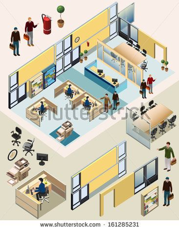 awesome vector custom isometric.#office #isometric #building #interior #incredible #detailed #illustration #workstation #vector #building #business #game #lego