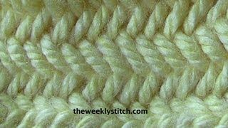 heringbone stitch in rounds - YouTube