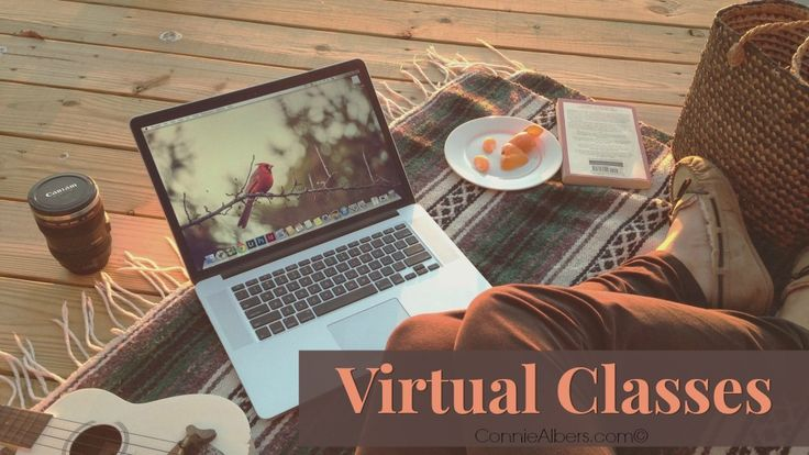 Virtual Classes, everything you need to know to make the most of out your virtual class experience. Connie Albers www.conniealbers.com