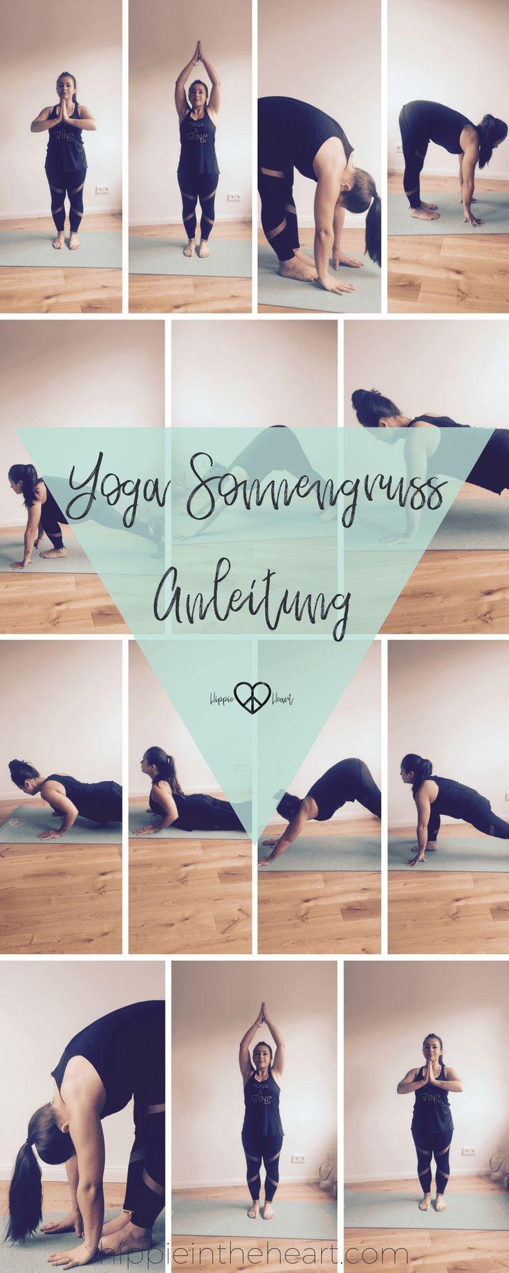 Yoga Sonnengruss - Eine Schritt für Schritt Anleitung - Pinterest 2