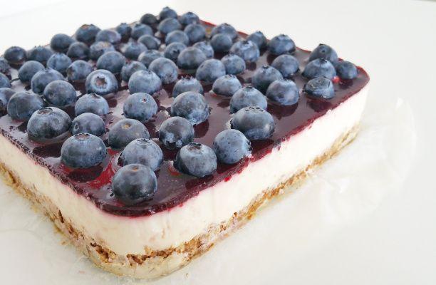 Bosbessen Griekse yoghurt taart2