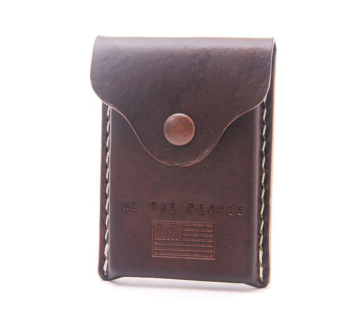 Image of We The People Handmade Leather Business Card Holder