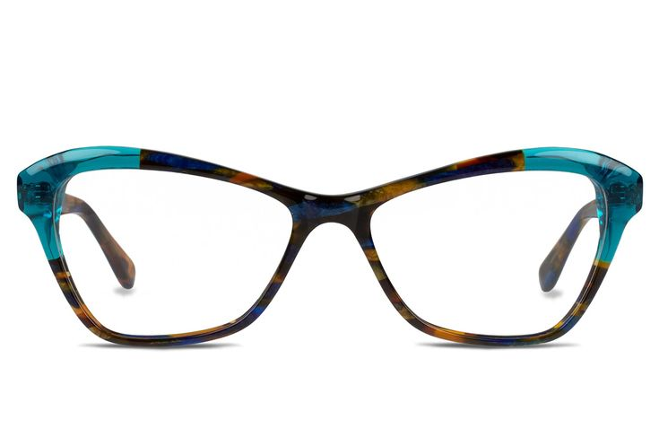 335a4eecaf COQUETTE Rectangular Glasses Frame In Blue For Women