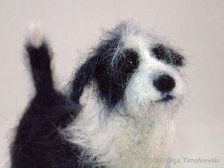 A beautiful needle felt model of a mix breed. Visit my website for a commission by All Things Felt & Beautiful http://www.feltandbeautiful.co.uk/commissions.html