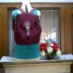 BACKPACK BURGUNDY 30 x 34 x 12 cm 315rb merk 305rb no merk