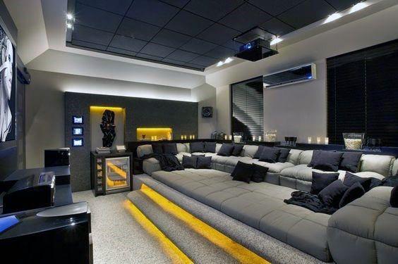 80 Heimkino-Design-Ideen für Männer – Maskulin Movie Room Retreats