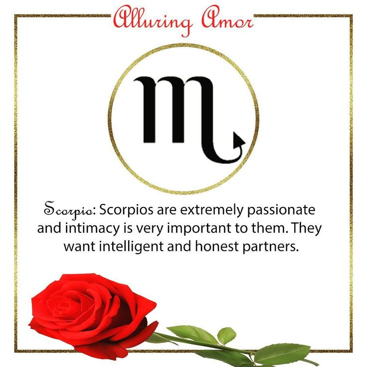 Zodiac Love: #Scorpio [Scorpios are extremely passionate and intimacy is very important to them. They want intelligent and honest partners.] ��  Are you with a Scorpio? ⚘ ⚘ ⚘ #love #relationships #single #dating #engaged #proposal #married #marriage #c #alluringamor #love #happiness #kyliejenner #family #LoveNote #letlovelove #justmarried #l #justengaged #followme #miami #bestfriend #hopelessromantics #beyoncé #diamonds #rings #boca #engagementring #marryme  www.alluringamor.com…
