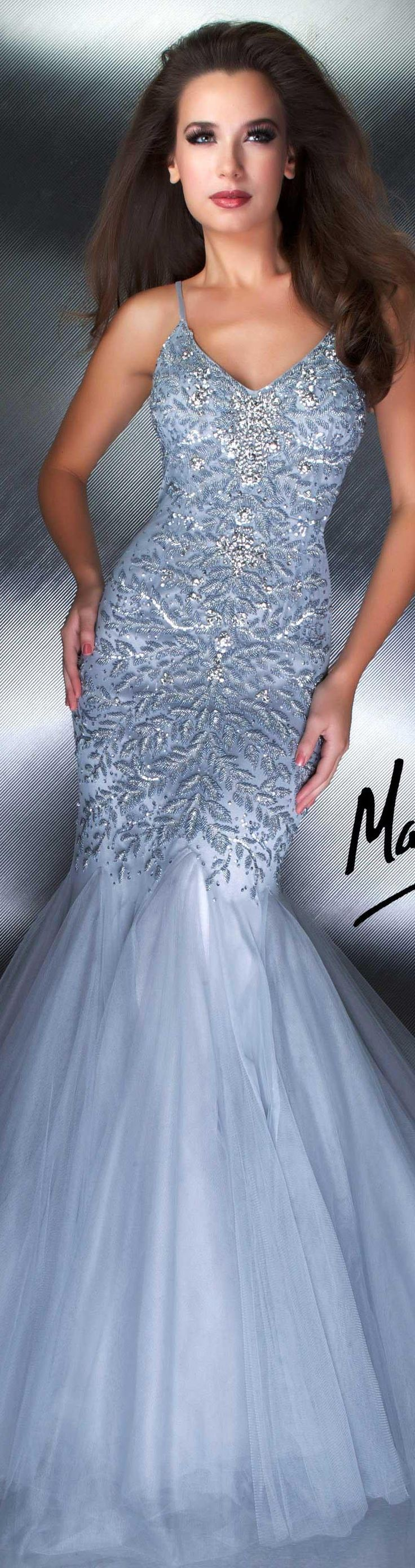 Mac Duggal couture dress platinum COUTURE DRESSES STYLE 1174D