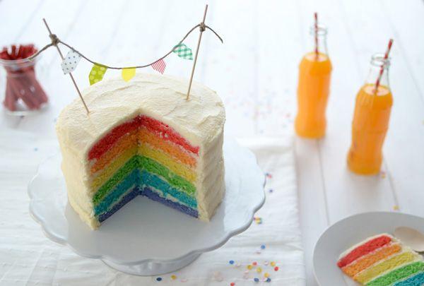 La chica de la casa de caramelo: Rainbow cake