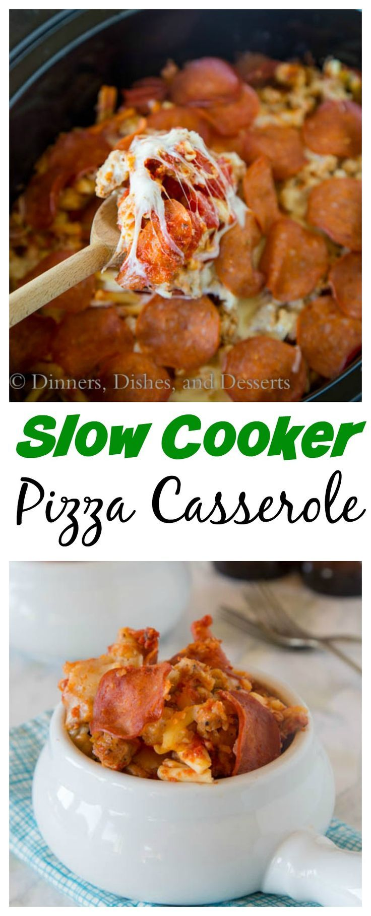 Slow Cooker Pizza Casserole – Who doesn't love pizza?  Turn it into a pasta casserole you can make in your crock pot. Dinner the whole family will love!