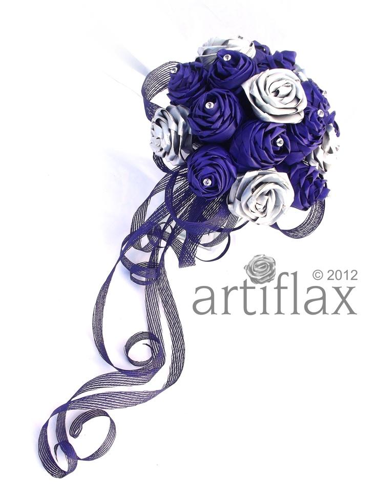 Purple and silver flax flowers elegantly arranged in a delicate flowing bouquet <3 www.artiflax.co.nz <3