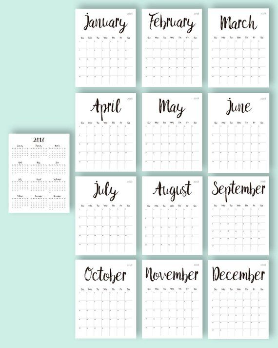 Printable Calendars 2020 May Thru December Printable Calendar 2019 2020 2018 Desk Calendar PDF Download