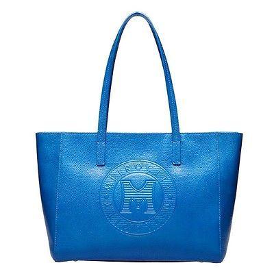 Hyundai Hmall  METROCITY Women's Blue Leather Shopper Shoulder Bag Korea