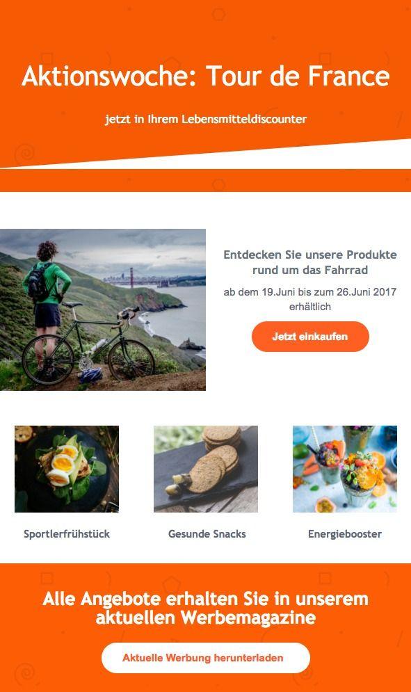 Am 1. Juli 2017 startet die Tour de France in Düsseldorf! Das älteste Etappenrennen der Welt geht in die 104. Runde und passend dazu feiert auch das Fahrrad einen runden Geburtstag. Lassen Sie sich diese Gelegenheit nicht entgehen und verschicken Sie eventspezifische E-Mails, um Ihre Umsätze anzukurbeln. In unserem neusten Blogartikel erhalten Sie tolle Ideen, wie Sie Ihre E-Mails passend zum Event gestalten.