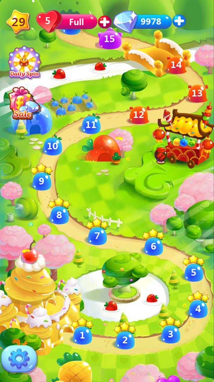 Cookie Jam - Saga map ui