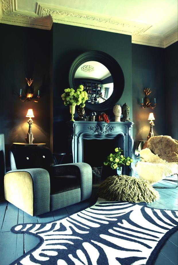 Abgail Ahern's home - dark and fabulous! kkliving.no
