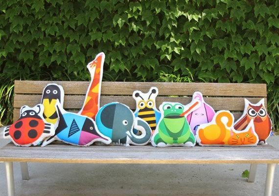 Cojín decorativo Pingüino con tela 100 algodón muy por bibushop, €32.00
