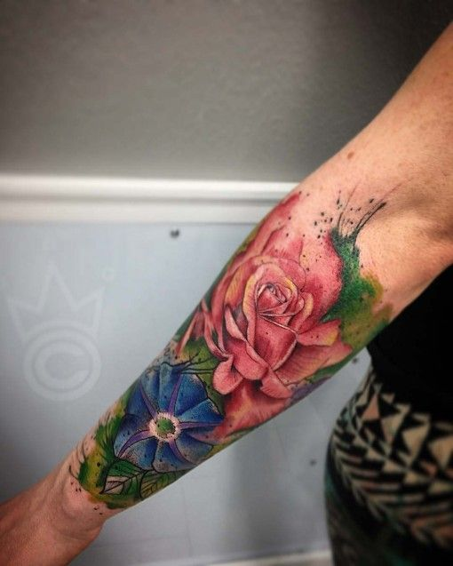 Bird Half Sleeves Watercolor Tattoo With Flowers: 17 Best Images About Watercolor Tattoos On Pinterest