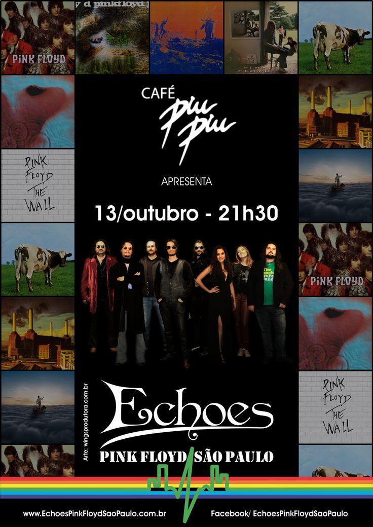 Cartaz, Poster, Pink Floyd, Echoes Pink Floyd Sao Paulo, banda, bandas, rock, Café Piu Piu, Psicodélico, Psychedelic