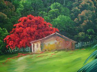Pintura a Óleo Sobre Tela - Eduardo Mecenero: Paisagem com Riacho                                                                                                                                                     Mais