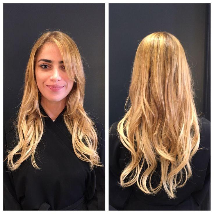 Hair by @fharpaz @fwallman #90210 #salonmaxime #nobleach #healthyhair #majiblond901S #hairrehab #blondbaby