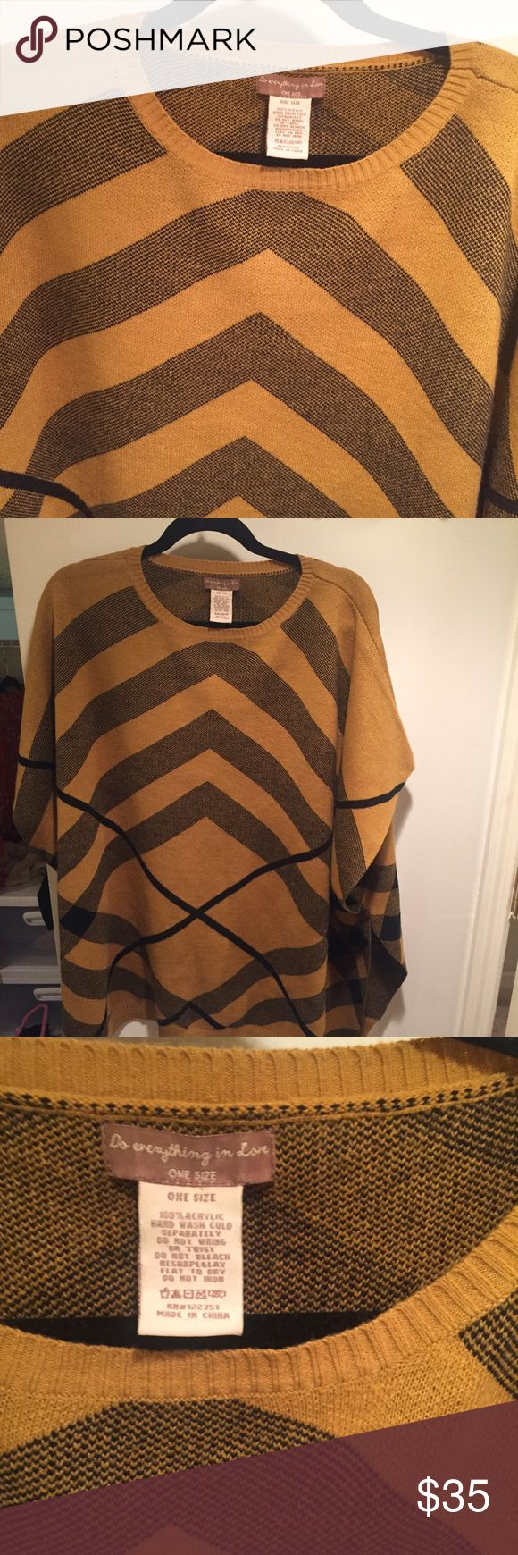 Fall Tunic Only worn once. Perfect fall tunic. So cute!! Do Everything In Love Sweaters Shrugs & Ponchos