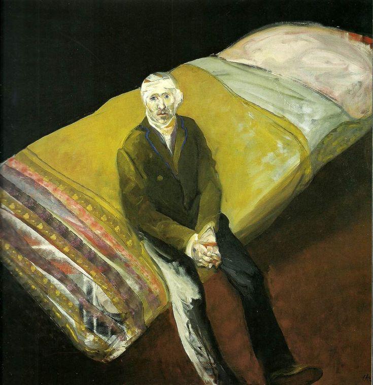 Cama nº1. de Carlos Alonso 1990. Acrílico sobre tela. 200 x 200 cm. #Arte #Argentina