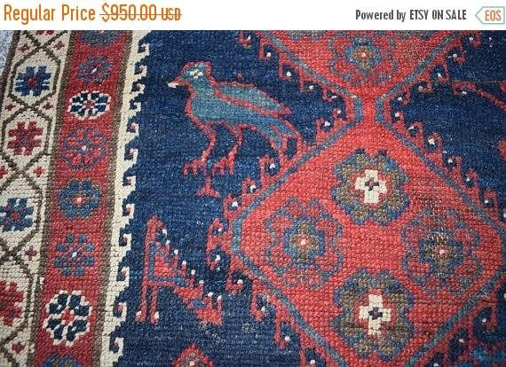 45% OFF CHRISTMAS SALE Antique Azerbaijan Zeer Khakhi Carpet