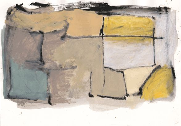"""""""12/22-03""""by sanae   h20.9cm w 29.7 cm Gouache and Water-soluble on Paper 2003"""