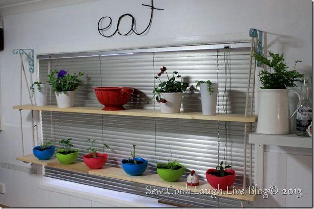 Image Result For Kitchen Window Shelves