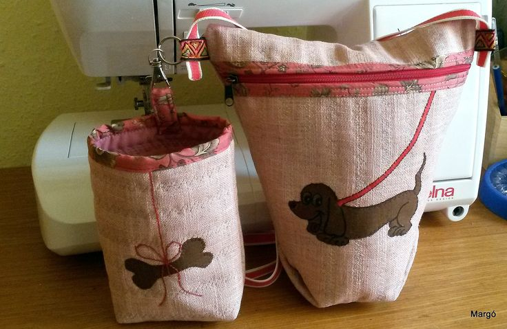 Kutyasétáltató táska + juti falat tartó