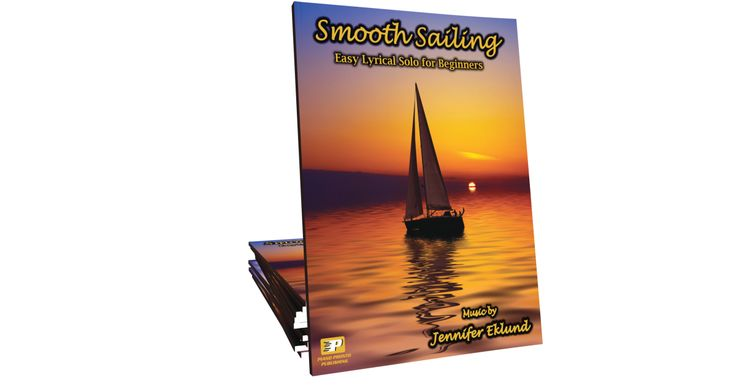 Smooth Sailing is an easy lyrical solo for beginners and late beginners. A great opportunity for students of all ages to work on legato playing, pedaling, left-hand dominant melody, and much more!