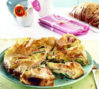 Zalm-courgette quiche - Recept - Jumbo Supermarkten