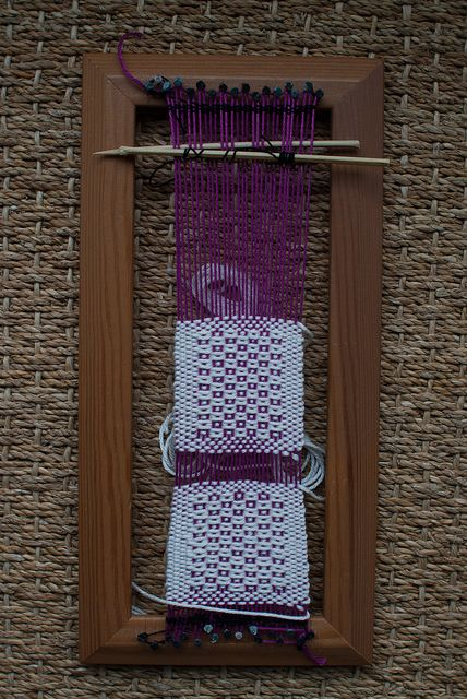 Weaving project 27: on loom during the craft weekend by Jane Dallaway, via Flickr