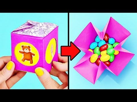16 Cute Diy Paper Boxes For Kids Youtube Gifts For Friends And