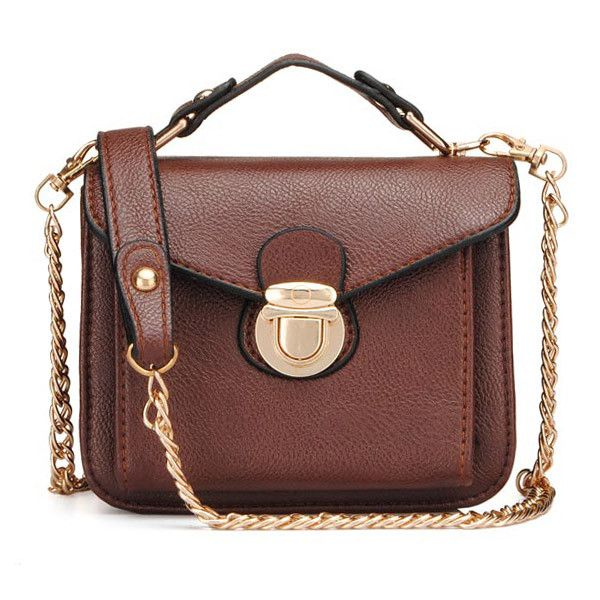 Women PU Leather Handbags Retro Chain Shoulder Bags Crossbody Bags