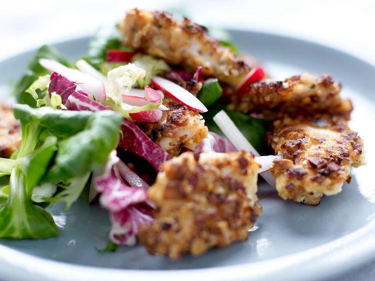 Voir la recette du poulet pané aux noisettes