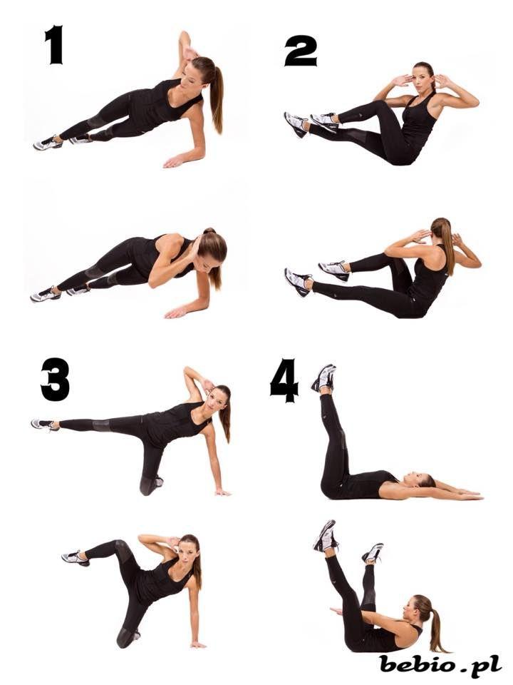PL:BRZUCH każde ćwiczenie 20 razy na każdą stronę i pomiędzy nimi 1 min przerwy całość powtórzyc 3 razy....... ENG:STOMACH each exercise 20 times on each side and between one minute break whole repeat 3 times
