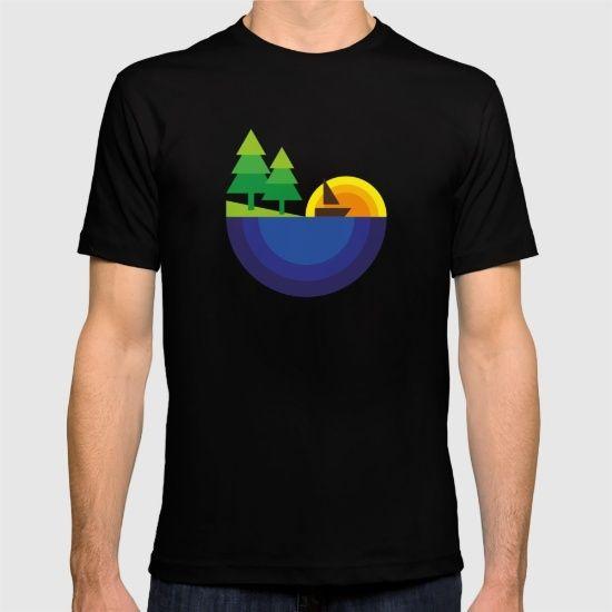 Geometric Landscape T-shirt by FishDesigns | Society6