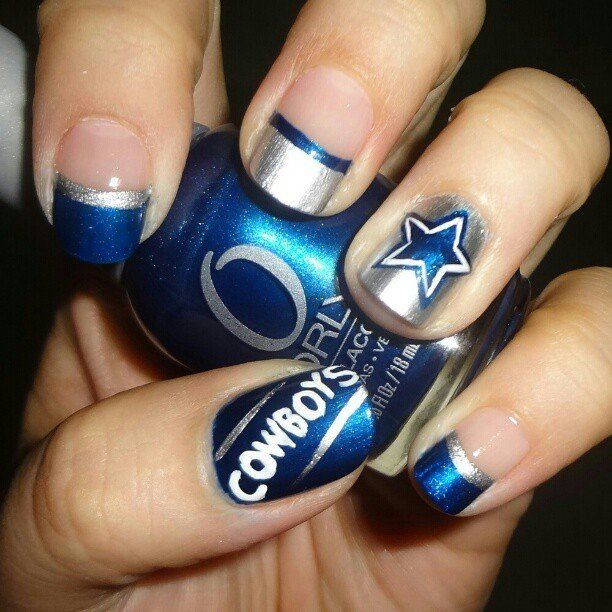 ... Dallas Cowboy Nails, Dallas Cowboys Nail Design, Alabama Nails