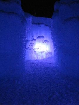 Loon Mountain Ice Castle, Lincoln, NH