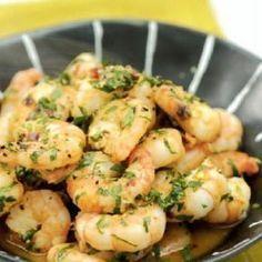 Γαρίδες με σκόρδο και ούζο