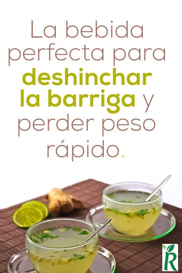 La bebida perfecta para deshinchar la barriga y perder peso rápido.