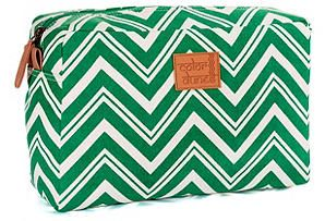 One Kings Lane - Back to Campus - Super Cosmetic Pouch, Emerald
