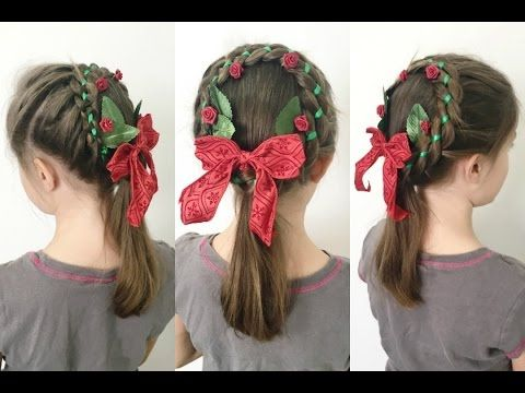 Christmas Tree Pull Through Braid | Christmas Hair | BabesInHairland.com - YouTube