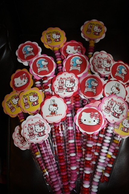 Hello Kitty party favors.