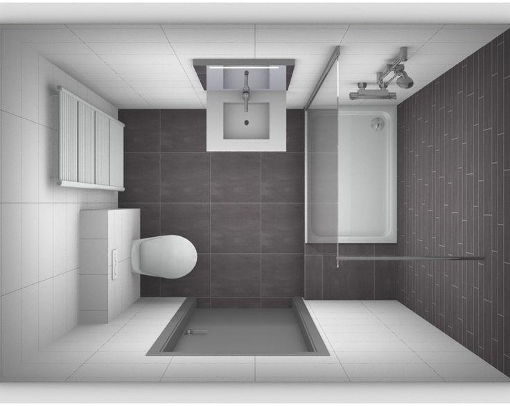 Ontwerp kleine badkamer. Meer ontwerpen en zelf je badkamer ontwerpen op http://www.kleinebadkamers.nl