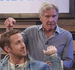 Harrison Ford and Ryan Gosling live comic con... - Blade Runner Fanatic